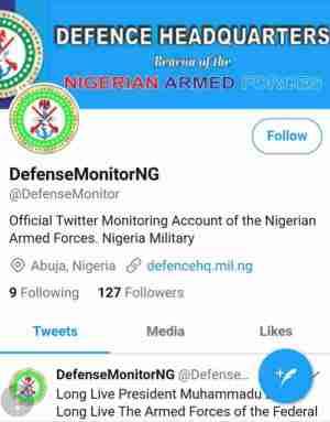 "Fake ""Defense"" Headquarters Twitter Account Annoys Nigerians"